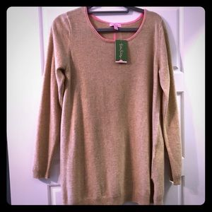 NWT Lilly Pulitzer Collins Cashmere Tunic Sweater